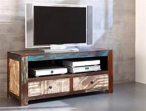Tv Schrank Design : lowboard punjab 130x60x55 akazie metall tv m bel tv ~ Sanjose-hotels-ca.com Haus und Dekorationen