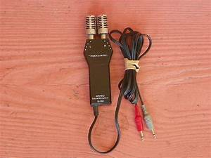 Vintage Realistic Stereo Electret Condenser Microphone