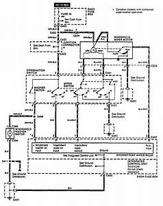 Acura Integra  1990  - Wiring Diagrams  Washer