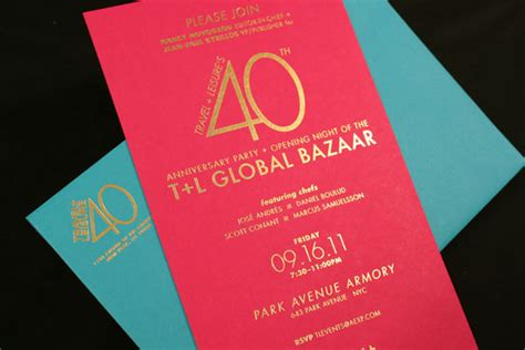 fpo travel leisure  anniversary party invite