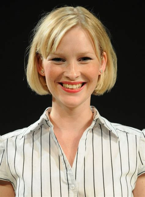 laurence ferrari  hair resting   tip   shoulders  joanna page   jaw