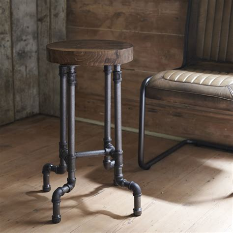 end table dimensions industrial steel pipe stool by brush64
