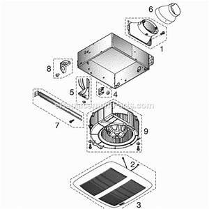 Nutone Lpn80 Parts List And Diagram   Ereplacementparts Com