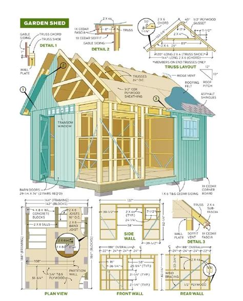 8x10 shed plans pdf shed plans 8 215 8 x12 shed plans essential considerations