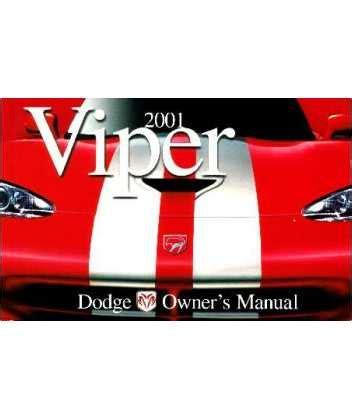auto repair manual online 2002 dodge viper parking system 2001 dodge viper owners manual