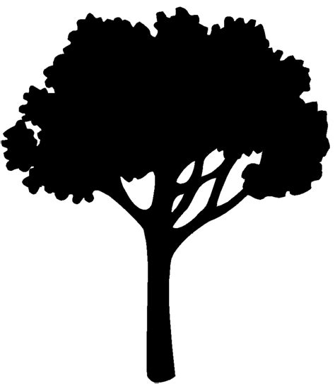 oak tree clipart black and white best oak tree silhouette 17919 clipartion