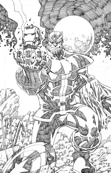 thanos beats the avengers by pipin on deviantart