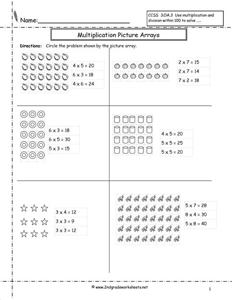 12 photos of multiplication arrays worksheet 2nd grade