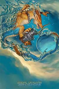 Zodiac Signs Calendar 2019 Zodiac Dragon Aquarius Weasyl
