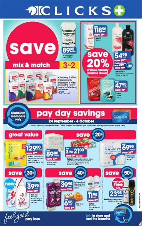 clicks pay day savings  sep   oct  black
