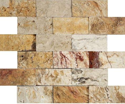 valencia scabos travertine tile travertine valencia brick mosaic 2x4 split faced mosaic