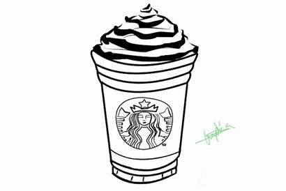 Starbucks Coloring Pages Coffee Frappuccino Printable Drawing