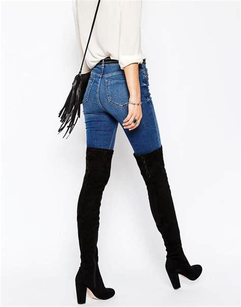 Outfits de jeans con botas largas otou00f1o u2013 invierno 2017 - trucosymanualidades.com