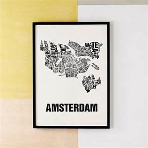 amsterdam letter map screen print by silk screen maps With screen printing letters