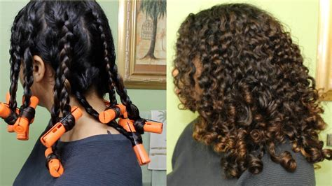 bouncy curls  braids perm rods natural curly hair