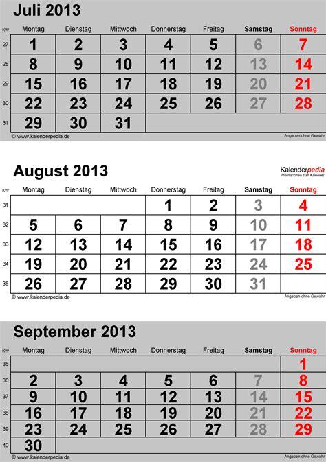 kalender august als word vorlagen