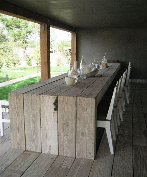 rustic outdoor dining table 1154 best images about braai area en tuin en buite areas