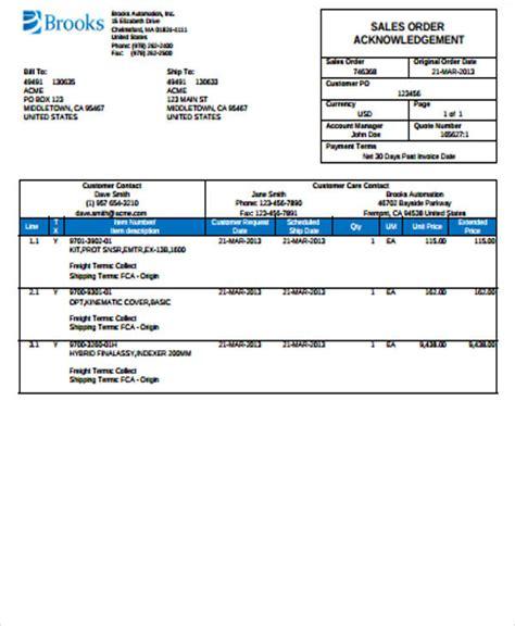 sample sales order forms  ms word