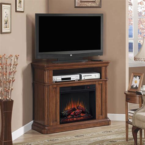oakfield wall  corner electric fireplace media console