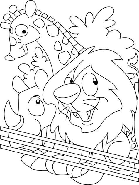 zoo coloring page   zoo coloring page