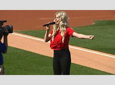 Julianna Zobrist sings the national anthem YouTube