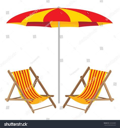 umbrella chair wooden furniture stock vector
