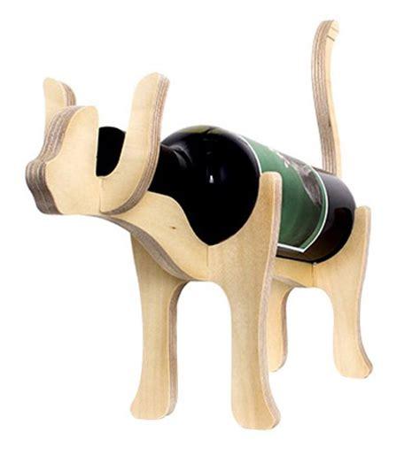 porte bouteille bois porte bouteille chat en bois