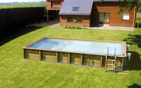 piscine piscine hors sol en bois rectangulaire jardin carre 5x4