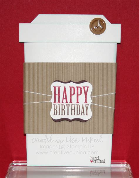 These efficient coffee card are very trendy and reliable. Slider Birthday Card (Coffee Cup) Tutorial | Creative Cucina