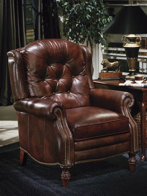 high quality leather recliner by bradington