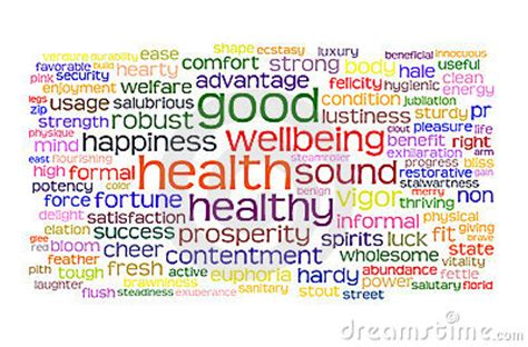 Good Health And Wellbeing Tag Cloud Royalty Free Stock