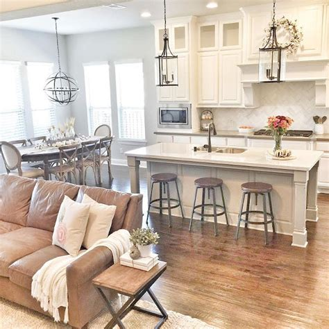 Kitchen Room Decor Ideas by 75 Warm And Cozy Farmhouse Style Living Room Decor Ideas