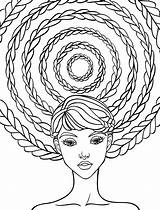 Coloring Pages Adult Crazy Hair Drawing Brush Adults Printable Relaxing Sheets Nerdymamma Books Colouring Mandala Relax Hairstyle Nerd Nerdy Getcolorings sketch template
