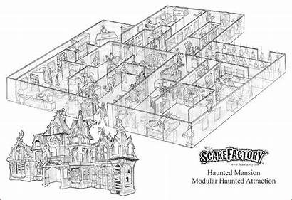 Haunted Mansion Scarefactory Attraction Attractions Layout Hauntedmansion