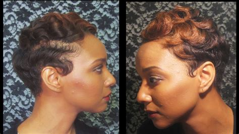 Watch How I Finger Wave And Curl My Short Hair