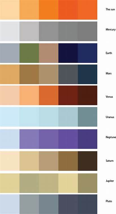 Planets Palettes Palette Inspiration Inspired Stars Moons