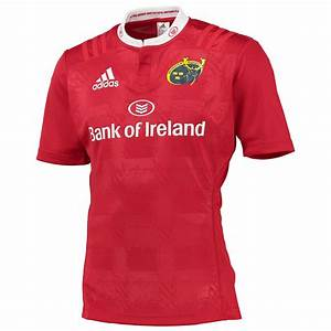 adidas Mens Munster Rugby Home Shirt Jersey Kit Top T ...