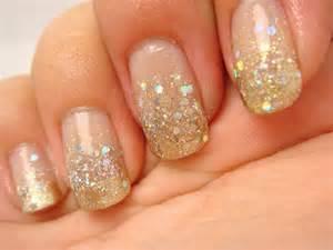 Gold glitter nails designs classy glittery nail