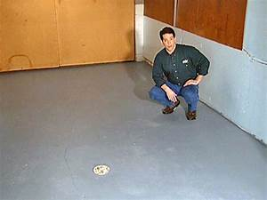 How to paint a garage floor how tos diy for How to paint wood floors diy network