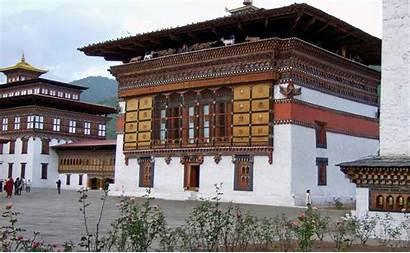 Dzong Trashi Palace Thimpu Bhutan Chhoe Innen