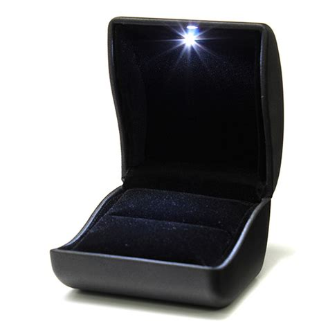 Ring Box With Light by Ring Box Jewelry Gift Wedding Engagement Black With