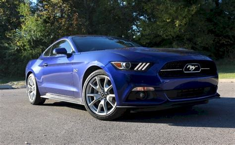 deep impact blue  ford mustang gt fastback