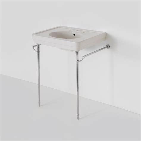 pedestal sink with metal legs alden metal round two leg single washstand bathroom
