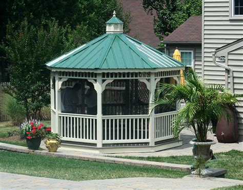 gazebo cupola vinyl single roof octagon gazebos with curved roof