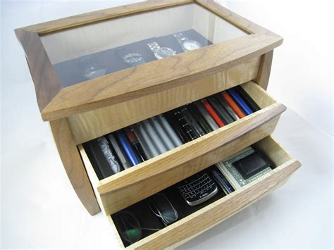 bureau valet mens wood valet for pens watches and glasses