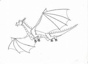 Easy Flying Dragon Drawings