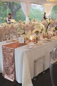 rose gold sequin table runner classy wedding with a With wedding decorations table runners