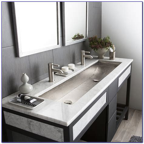 trough sinks with two faucets bathroom trough sink useful reviews of shower