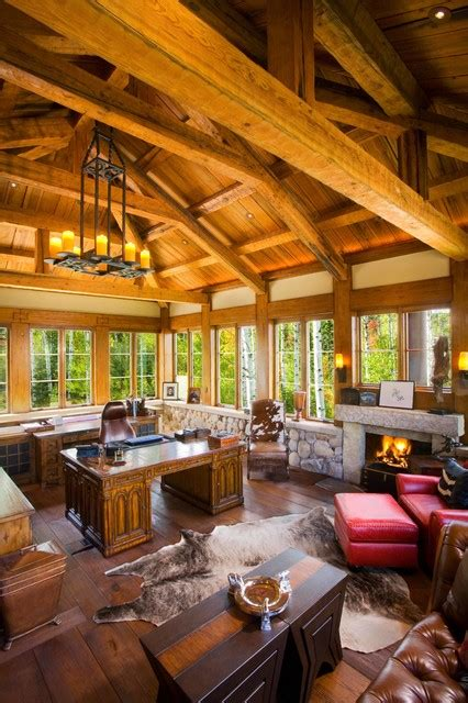 inspiring rustic home office study designs   inspire