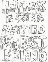 Coloring Pages Bff Adult Books Doodle Husband Printable Sheets Saying Friend Quote Married Friends Colouring Adults Sayings Activities Anniversary Quotes sketch template